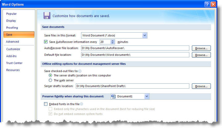 Microsoft Word 2010 will not save or open documents?